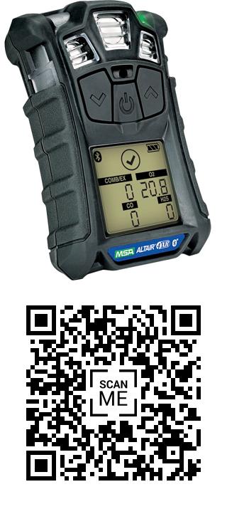 Kod QR do pobrania aplikacji na telefon do połączenia miernika poprzez moduł Bluetooth.